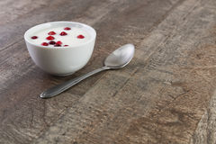 Yogurt on the table Stock Photo