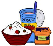 Yogurt - tema do alimento Imagem de Stock