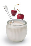 Yogurt With Cherries Royalty Free Stock Image