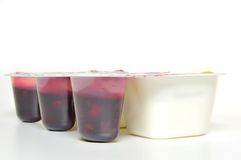 Yogurts Royalty Free Stock Photography