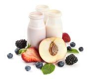 Yogurts And Fruits Stock Image