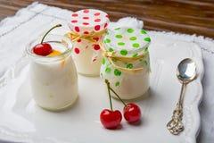 Yogurts Royalty Free Stock Photography