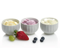 Yogurts With Fruits Stock Photo