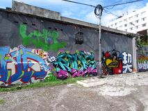 Yogyakarta ściany sztuka - Indonezja Zdjęcie Royalty Free