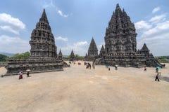 YOGYAKARTA, INDONESIA - CIRCA SEPTEMBER 2015: Prambanan Hindu temple complex, Java,  Indonesia Stock Photos