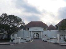 Yogyakarta city landmark. Yogyakarta, Indonesia - October 31, 2018: Museum Benteng Vredeburg Fort Vredeburg Museum was a former colonial fortress that has been stock photo
