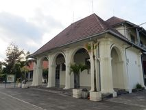 Yogyakarta city landmark. Yogyakarta, Indonesia - October 31, 2018: Museum Benteng Vredeburg Fort Vredeburg Museum was a former colonial fortress that has been stock images