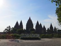 Prambanan Temple Compounds in Yogyakarta. Yogyakarta, Indonesia - October 31, 2018: Prambanan Temple Compounds, built in the 9th century, is the largest temple royalty free stock photography