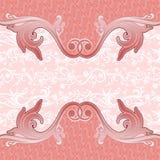 Yogyakarta van de dekkings abstracte roze batik Stock Afbeeldingen