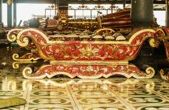 YOGYOKARTA, JAVA 20 DE MARÇO DE 2016: Palácio do sultanato em Yogyakarta - lugar da música no palácio para a orquestra real Fotos de Stock Royalty Free