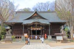 Yohashira寺庙马塔莫罗斯长野日本 免版税库存图片
