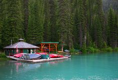 yoho национального парка озера Канады изумрудное Стоковые Изображения