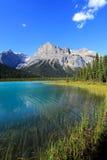 Изумрудное озеро, национальный парк Yoho, Британская Колумбия, Канада Стоковые Изображения RF