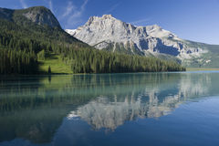 Yoho National Park. Emerald Lake in Yoho National Park with Rockies in the background Stock Images