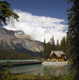 Yoho National Park - Canada. Emerald Lake in Yoho National Park in the Rocky Mountains in British Columbia in Canada Stock Images