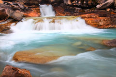 Yoho National Park Canada. Cascades of glacial water below Twin Falls of Yoho National Park in Canada Royalty Free Stock Images