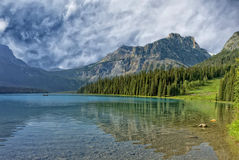 Yoho Park Emerald Lake Stockbilder