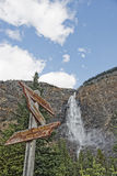 Yoho Park falls Royalty Free Stock Photography