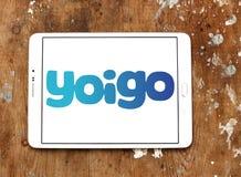 Yoigo telecommunications company logo. Logo of Yoigo telecommunications company on samsung tablet. Yoigo is the fourth largest mobile network operator in Spain Stock Images