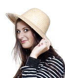 Yoiung girl in hat Royalty Free Stock Images