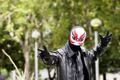 Yokai (Big Hero 6) Cosplay. At Fanime 2015. FanimeCon (By Fans, For Fans) is Northern California's largest celebration of anime, manga, games, music, martial Royalty Free Stock Photos