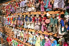 Traditional Burmese puppets. Yoke thé is the Burmese name of the ancient marionette puppetry, popular across the country royalty free stock image