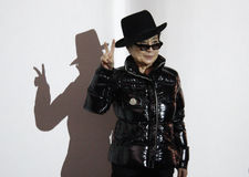 Yoko Ono. SEPTEMBER 10, 2010 - BERLIN: Yoko Ono at a presentation of her latest work titled The Gift in the Gallery Haunch of Venison in Berlin royalty free stock photography