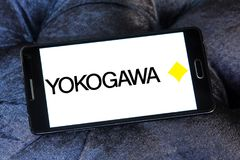 Yokogawa Electric Corporation logo. Logo of Yokogawa Electric Corporation on samsung mobile. Yokogawa is a Japanese electrical engineering and software company Royalty Free Stock Image