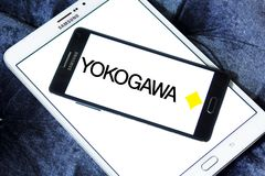 Yokogawa Electric Corporation logo. Logo of Yokogawa Electric Corporation on samsung mobile. Yokogawa is a Japanese electrical engineering and software company Royalty Free Stock Photography