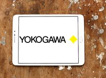 Yokogawa Electric Corporation logo. Logo of Yokogawa Electric Corporation on samsung tablet. Yokogawa is a Japanese electrical engineering and software company Stock Images