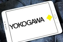 Yokogawa Electric Corporation logo. Logo of Yokogawa Electric Corporation on samsung tablet. Yokogawa is a Japanese electrical engineering and software company Stock Photos