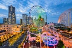 Yokohama, εικονική παράσταση πόλης της Ιαπωνίας Στοκ Εικόνες