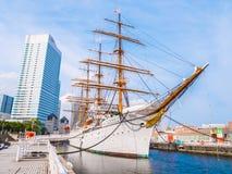 YOKOHAMA ΙΑΠΩΝΙΑ - 25 ΙΟΥΛΊΟΥ 2018: Όμορφη ναυσιπλοΐα nippon-Maru Α στοκ φωτογραφία με δικαίωμα ελεύθερης χρήσης