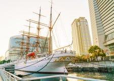 YOKOHAMA, ΙΑΠΩΝΙΑ - 24 Νοεμβρίου: Nippon Maru σε Yokohama, Ιαπωνία επάνω Στοκ Φωτογραφίες