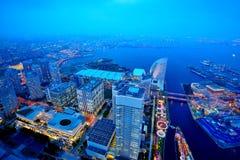Yokohama στο λυκόφως στοκ φωτογραφία με δικαίωμα ελεύθερης χρήσης