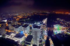Yokohama τη νύχτα στοκ εικόνες