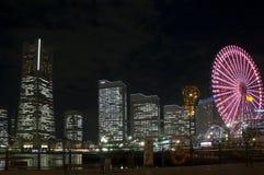 Yokohama alla notte Fotografie Stock Libere da Diritti