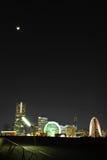 Yokohama alla notte dal pilastro di Osahnbashi Fotografia Stock Libera da Diritti