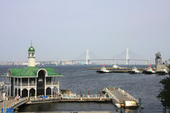 Yokohama Bay Bridge royalty free stock photo