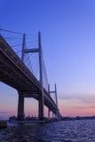 Yokohama Bay Bridge at dusk Stock Photography