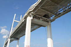 Yokohama bay bridge Stock Photo