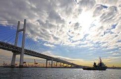 YOKOHAMA BAY BRIDGE, JAPAN Royalty Free Stock Image