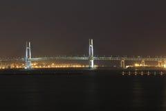 Yokohama Bay Bridge at night Stock Photography