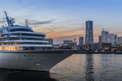 Yokohama bayside city view royalty free stock photo
