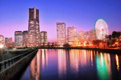 Yokohama building skyline at night Stock Photo
