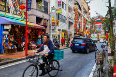 Yokohama Chinatown in Japan stockbilder