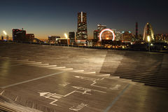 Yokohama city , Japan skyline Stock Photos