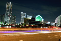 Yokohama City & Moving traffic Stock Photos