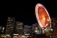 Yokohama City at night in Japan Stock Images