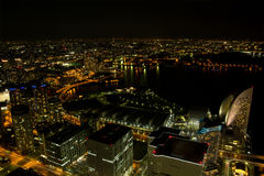 Yokohama City at night in Japan Stock Photo